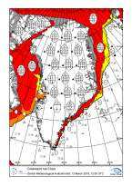 Ice map for Greenland waters